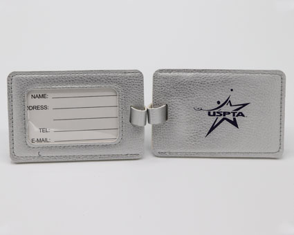USPTA Luggage Tags-silver